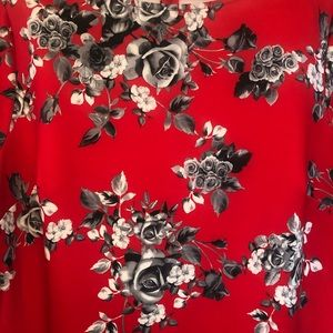 New York & Company Dresses - NY & Co. red and black flowered dress